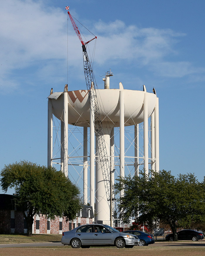 Water Tower Demolition - West Waco 16 WEB
