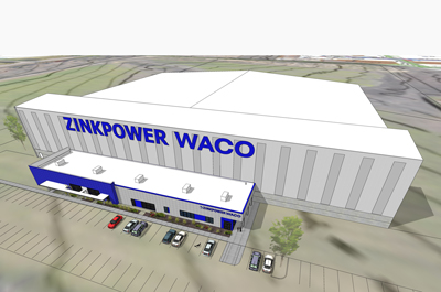 ZinkPower Selects Waco, Texas for First Greenfield US Operation